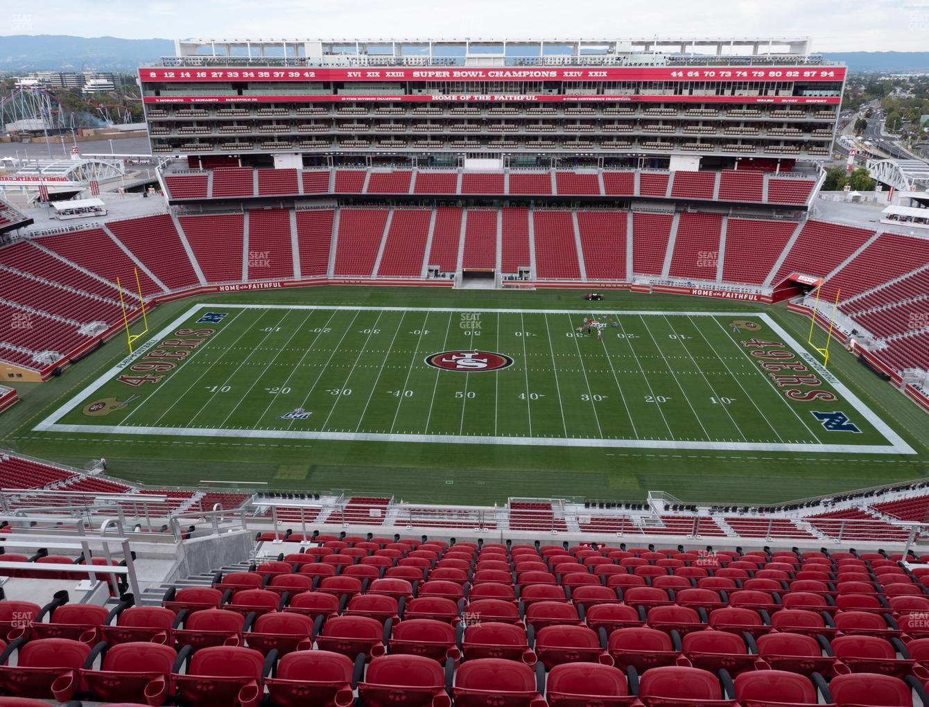 San Francisco 49ers at Levi's Stadium Section 411 View
