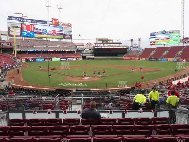 Great American Ball Park Section 124 view