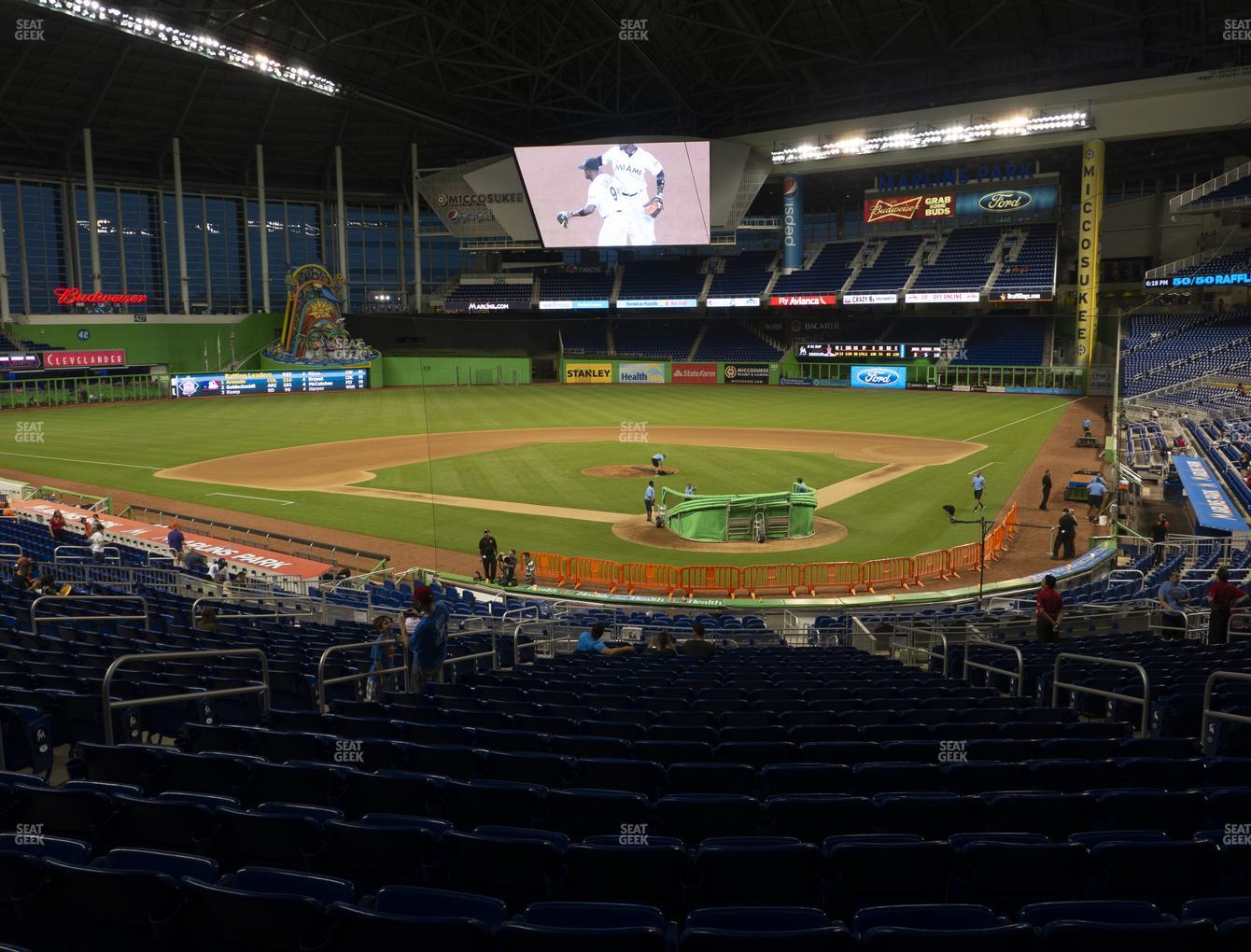Miami Marlins at Marlins Park Section 16 View