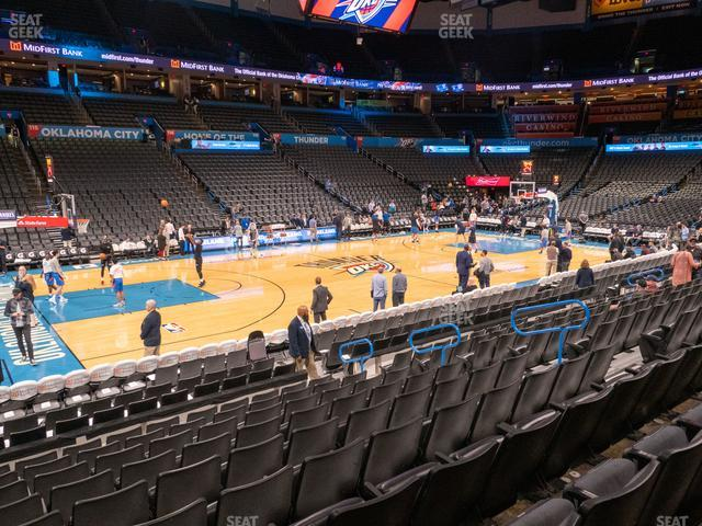 Chesapeake Energy Arena Section 107 view