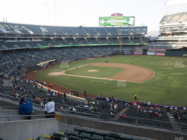 Oakland-Alameda County Coliseum Section 210 view
