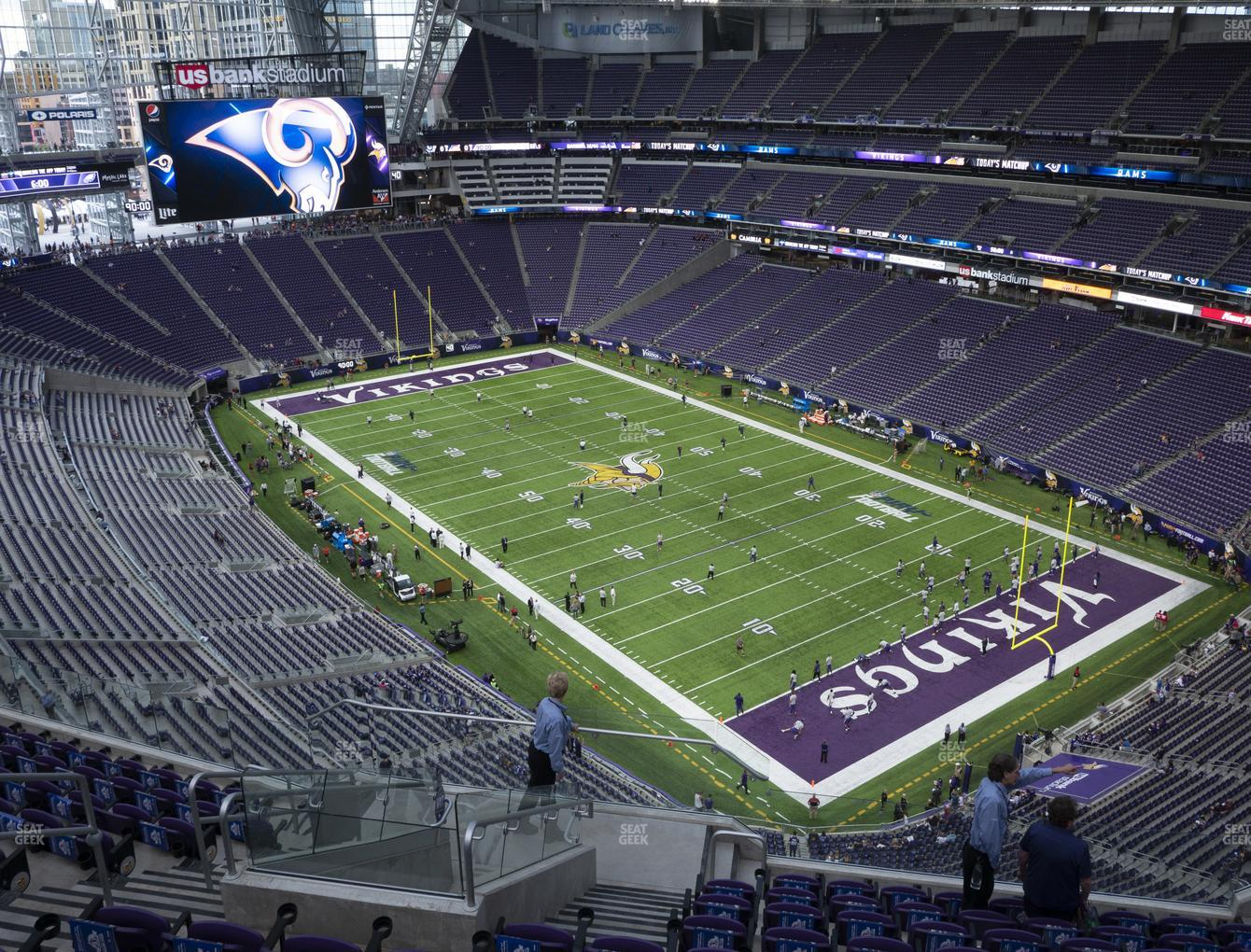 Minnesota Vikings at U.S. Bank Stadium Section 333 View