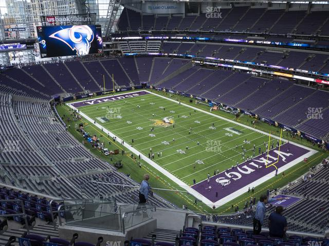 U.S. Bank Stadium Section 333 view