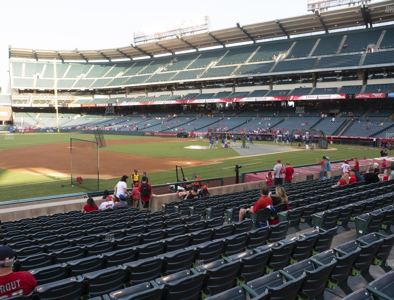 Los Angeles Angels at Angel Stadium of Anaheim Section 109 View