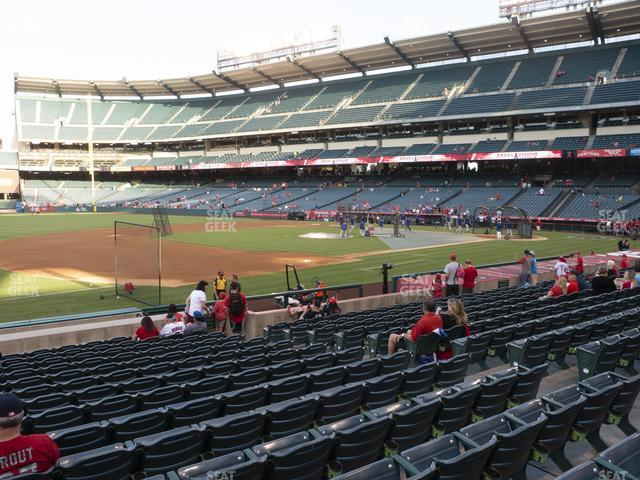 Angel Stadium of Anaheim Section 109 view