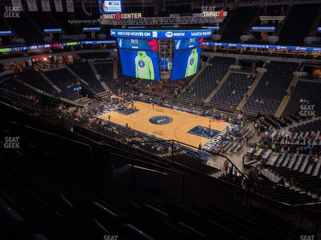 Target Center Section 207 view