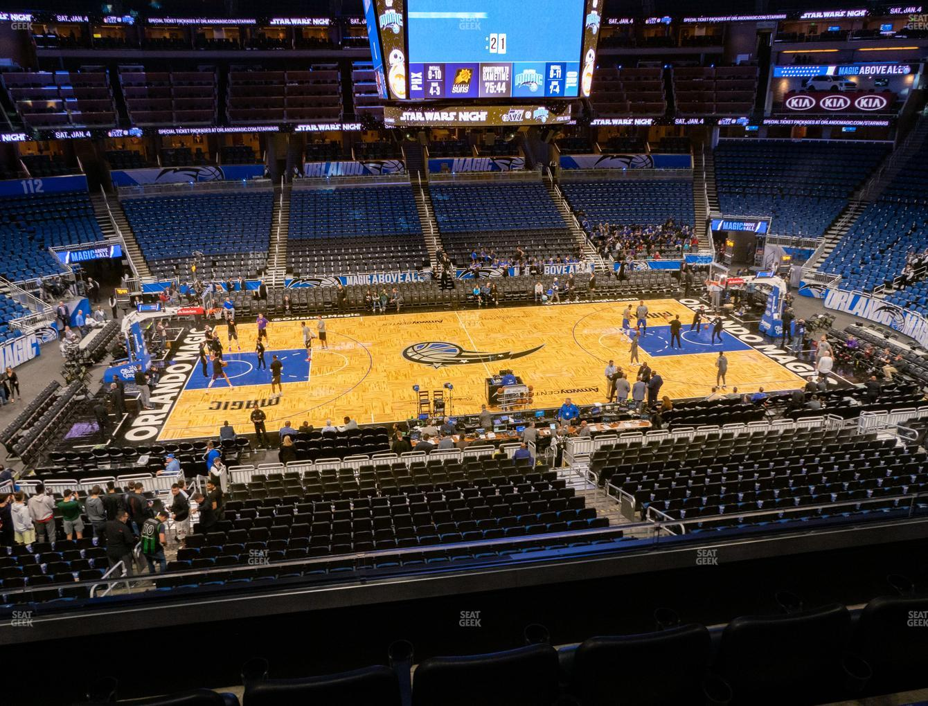 Orlando Magic at Amway Center Section Club D View