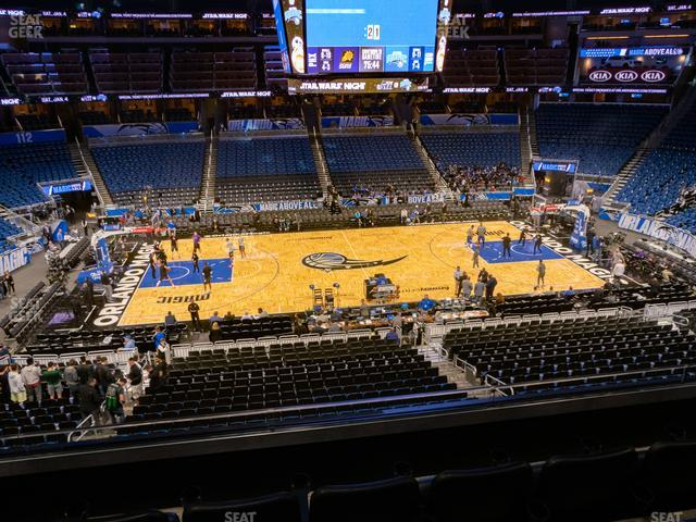 Amway Center Section Club D view