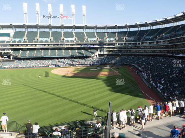 Progressive Field Section 180 view
