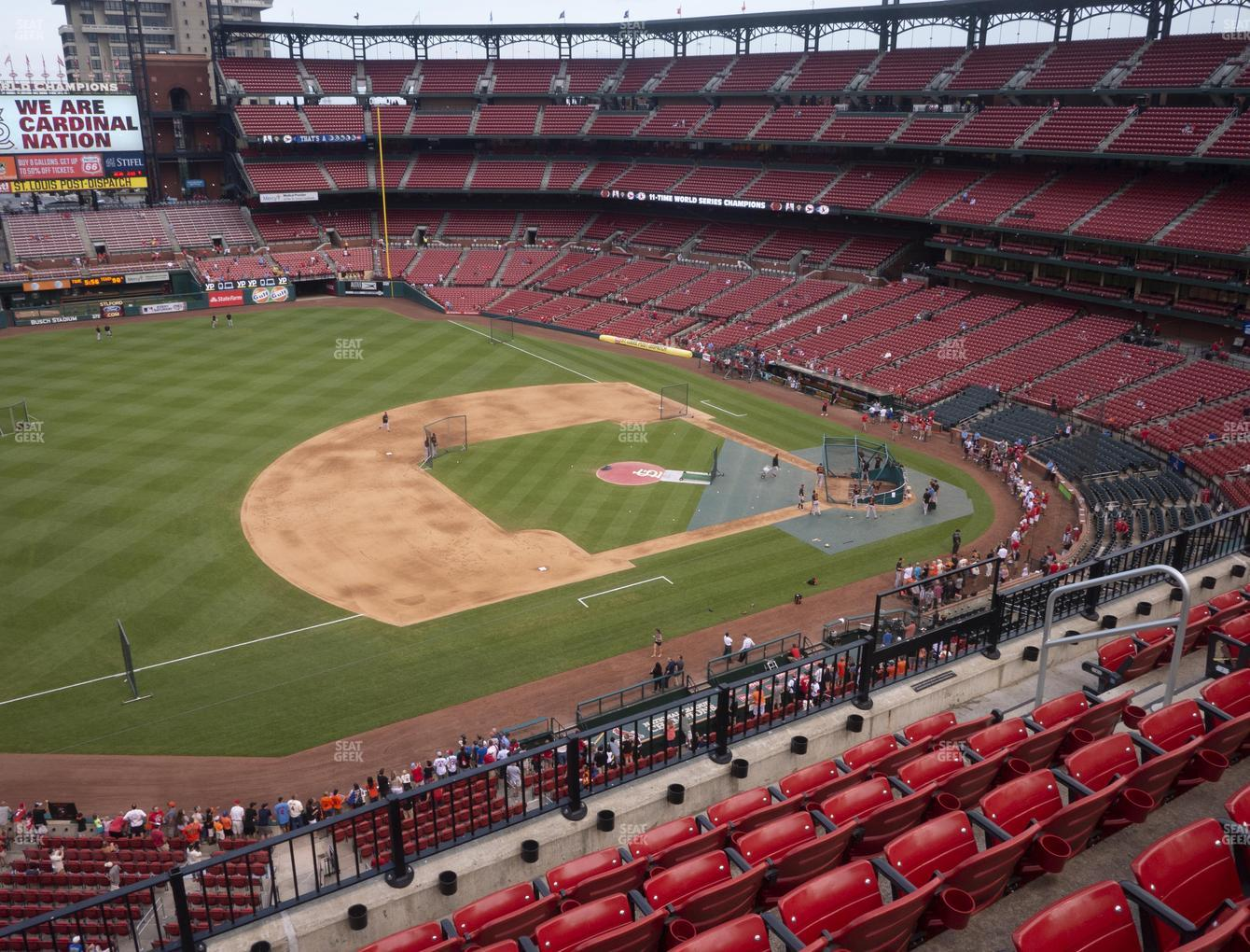St. Louis Cardinals at Busch Stadium Third Base Pavilion 359 View