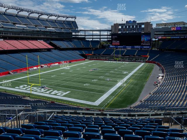 Gillette Stadium Section 240 view