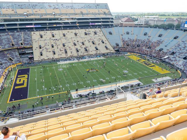 LSU Tiger Stadium Section 638 view