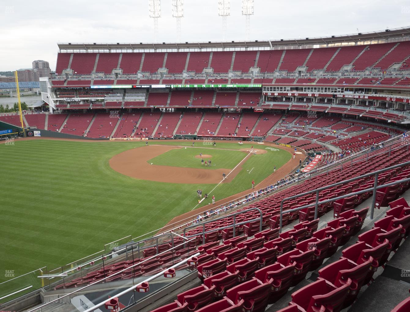 Cincinnati Reds at Great American Ball Park Section 410 View