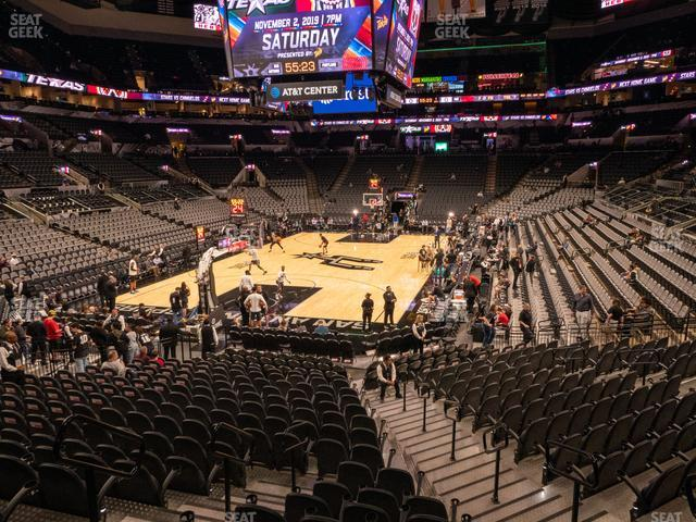AT&T Center Section 113 view