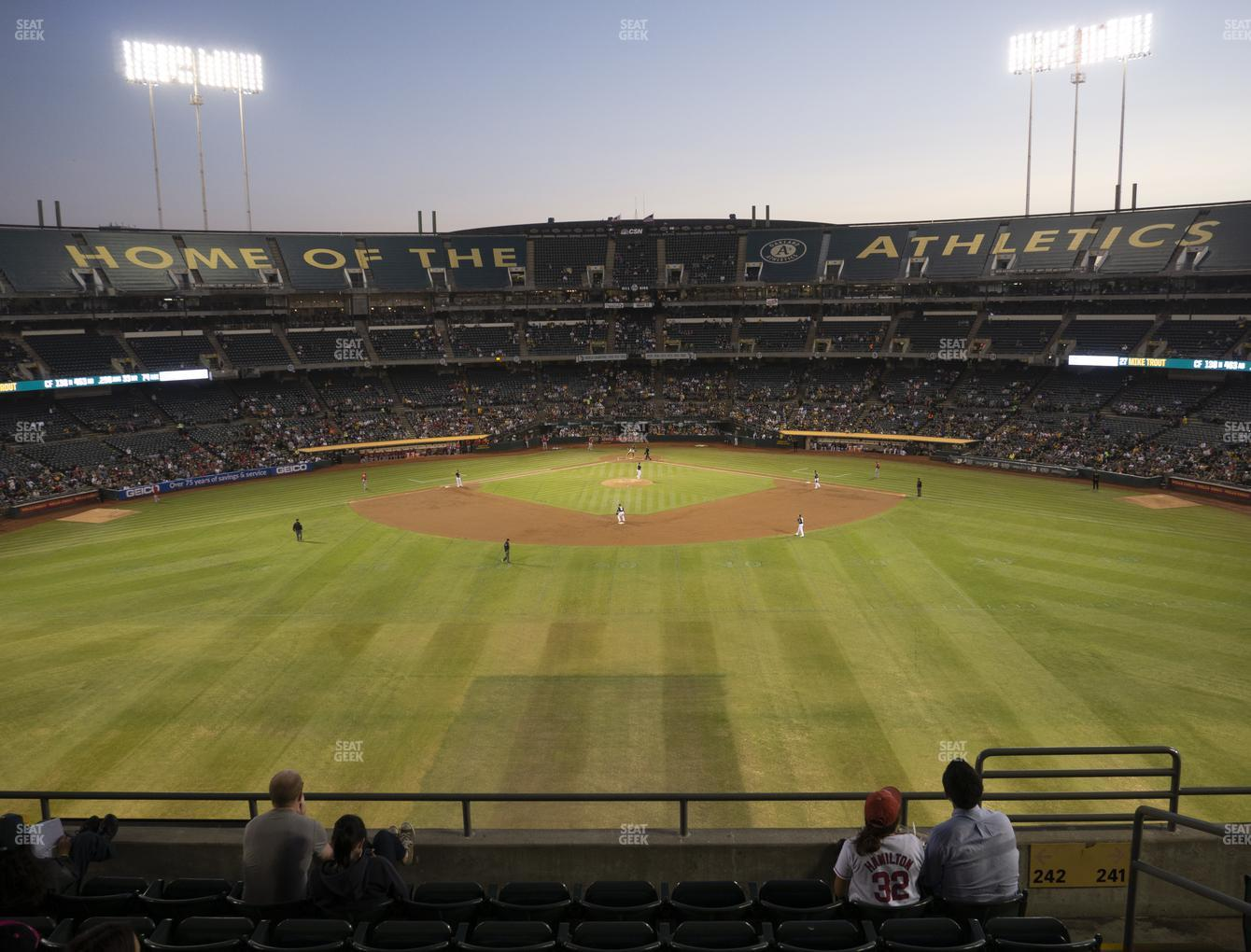 Oakland Athletics at Oakland-Alameda County Coliseum Section 242 View