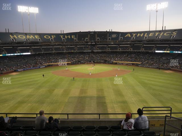 Oakland-Alameda County Coliseum Section 242 view