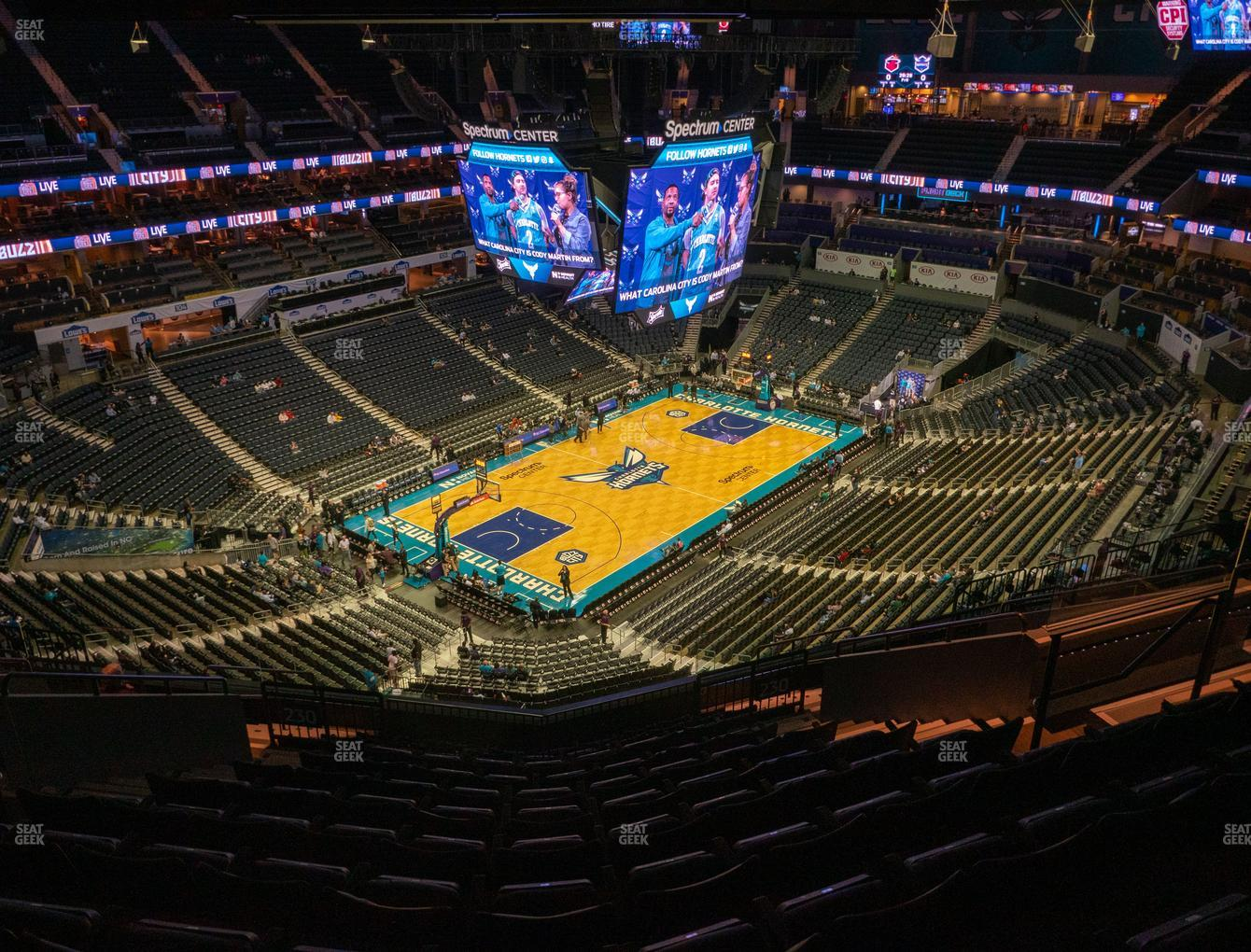 Charlotte Hornets at Spectrum Center Section 230 View