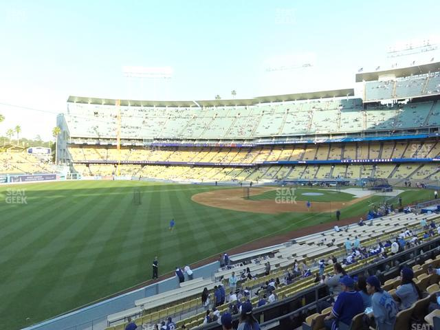 Dodger Stadium Loge Box 159 view