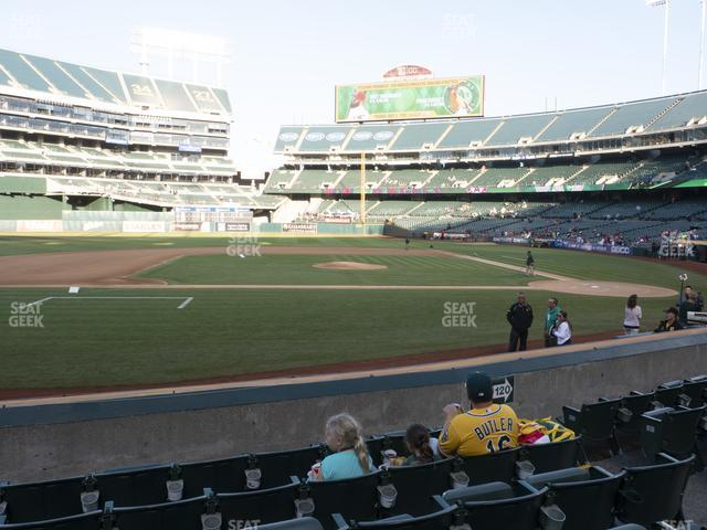 Oakland-Alameda County Coliseum Section 121 view