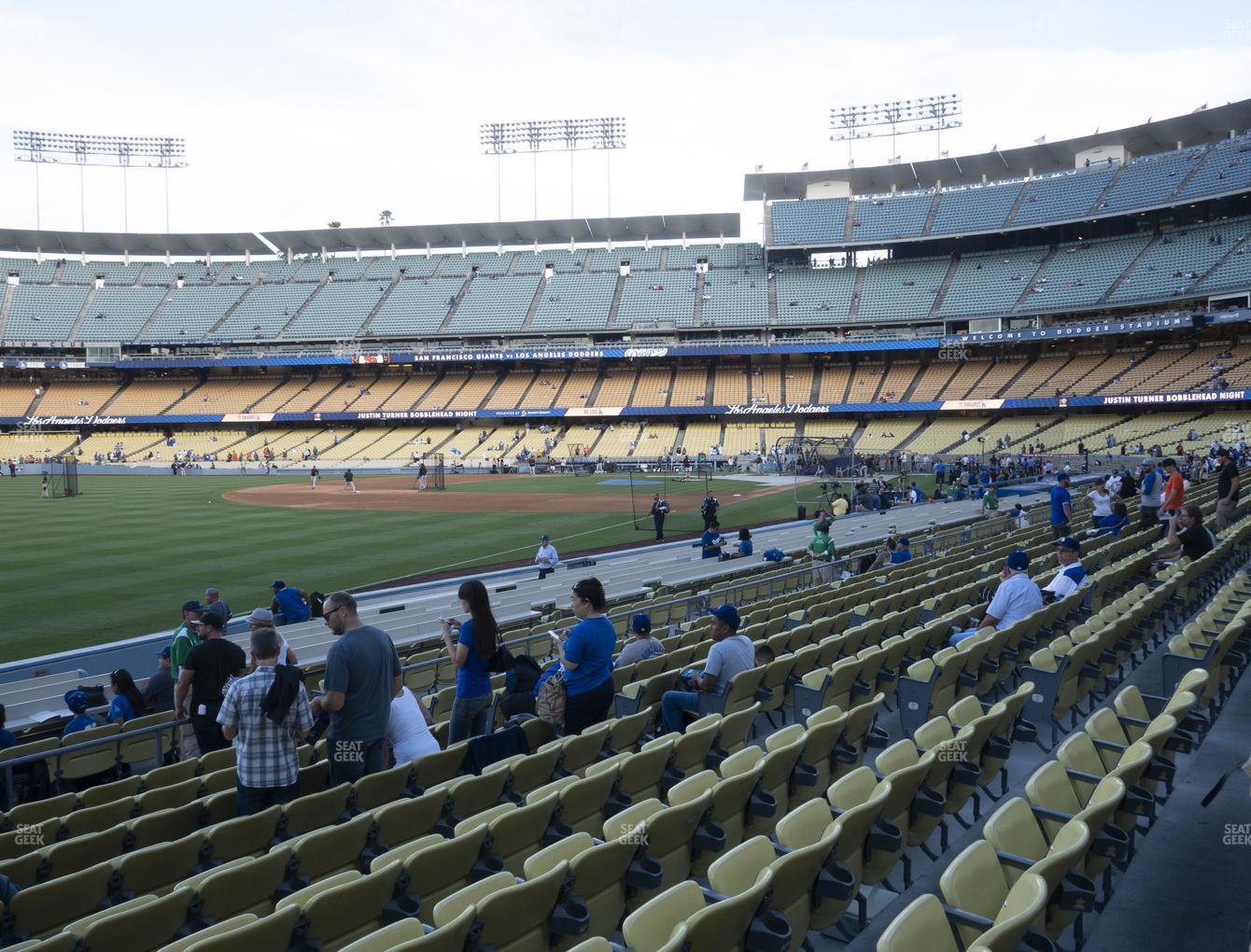 Los Angeles Dodgers at Dodger Stadium Field Box 45 View