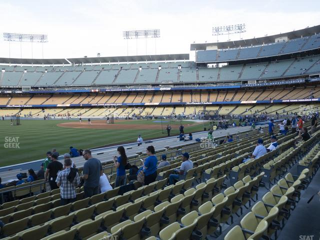Dodger Stadium Field Box 45 view