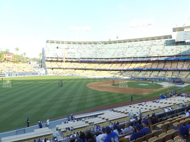 Dodger Stadium Loge Box 157 view