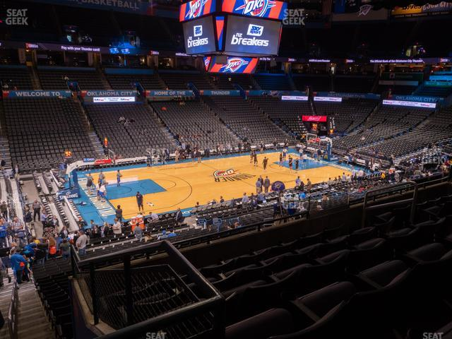 Chesapeake Energy Arena Section 225 view