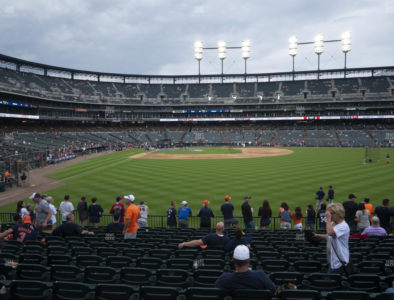Detroit Tigers at Comerica Park Section 105 View