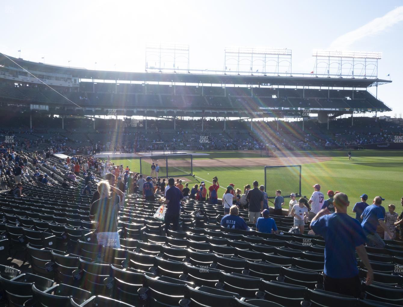 Chicago Cubs at Wrigley Field Section 132 View