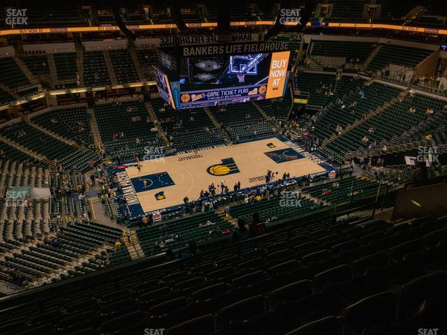 Bankers Life Fieldhouse Section 210 view