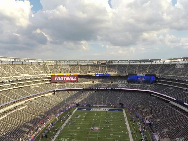 MetLife Stadium Section 350 view