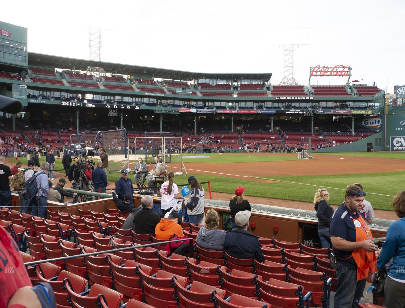 Boston Red Sox at Fenway Park Field Box 13 View