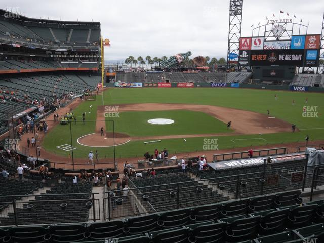 Oracle Park Section 211 view