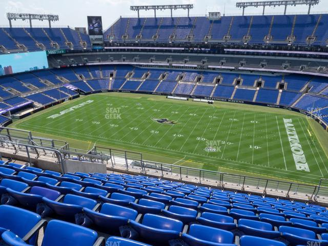 M&T Bank Stadium Section 551 view