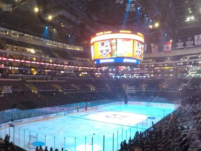 Staples Center Section 205 view