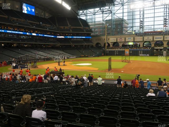 Minute Maid Park Section 127 view