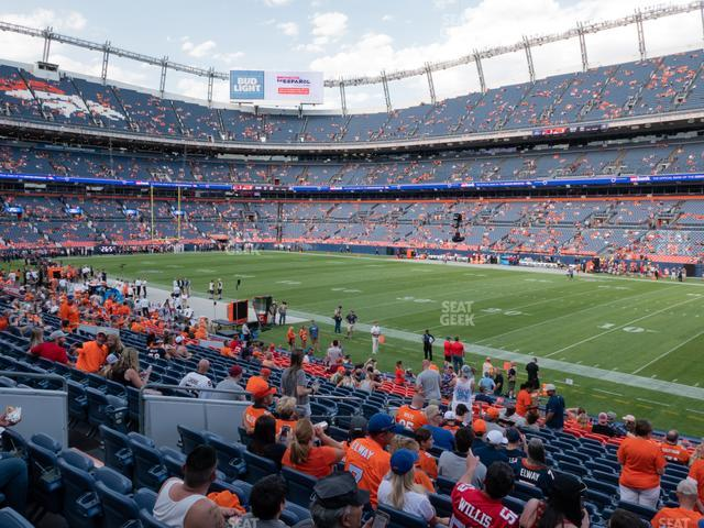 Empower Field at Mile High Section 101 view