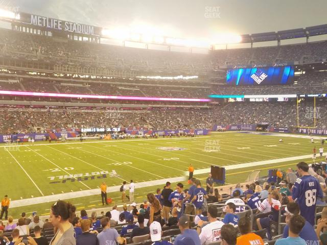 MetLife Stadium Section 116 view