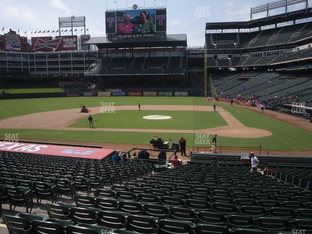 Globe Life Park Section 21 view