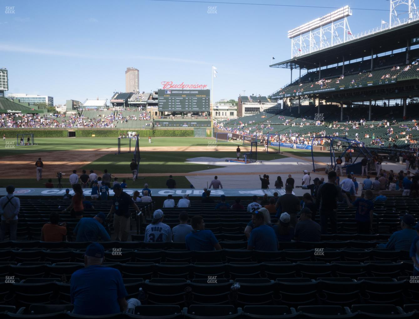 Chicago Cubs at Wrigley Field Section 113 View