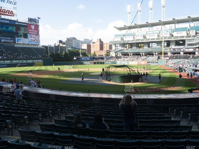 Progressive Field Section 156 view