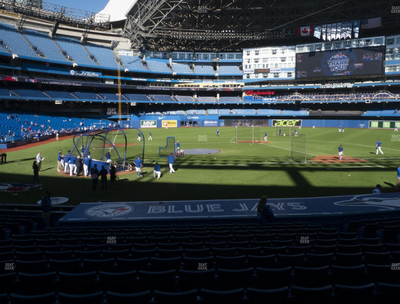Toronto Blue Jays at Rogers Centre Section 119 R View