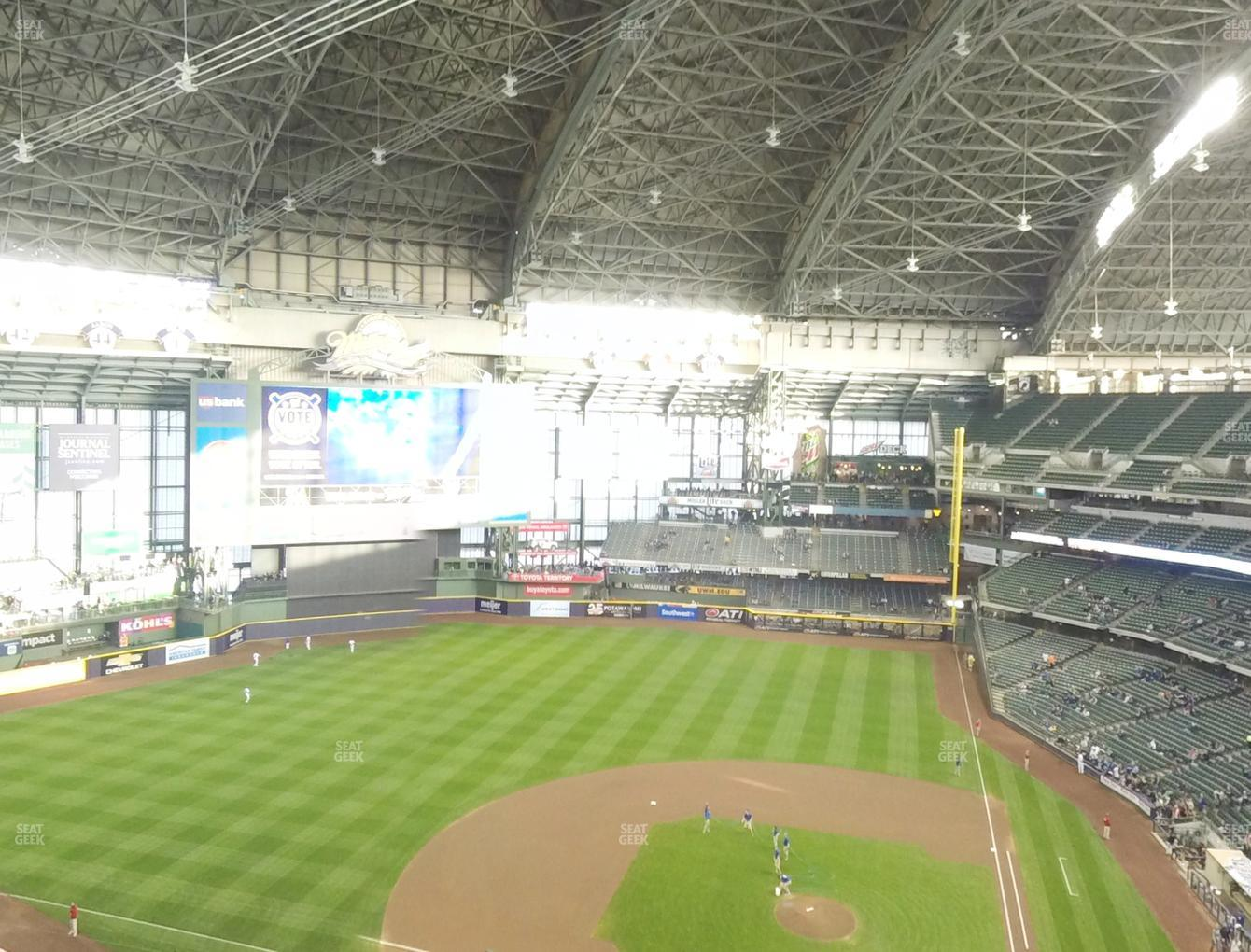 Milwaukee Brewers at Miller Park Section 427 View