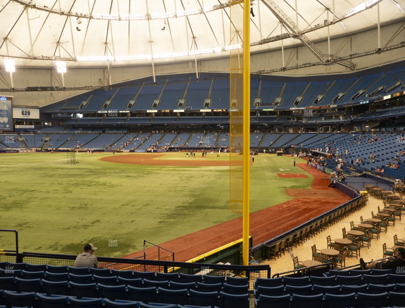 Tampa Bay Rays at Tropicana Field Section 139 View