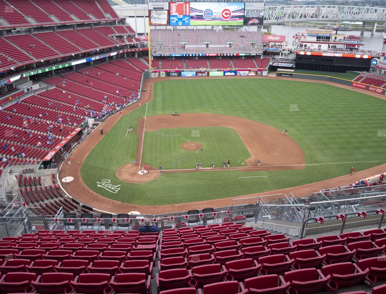 Cincinnati Reds at Great American Ball Park Section 528 View