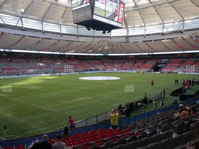 BC Place Stadium Section 221 view