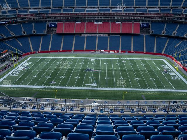 Gillette Stadium Section 309 view