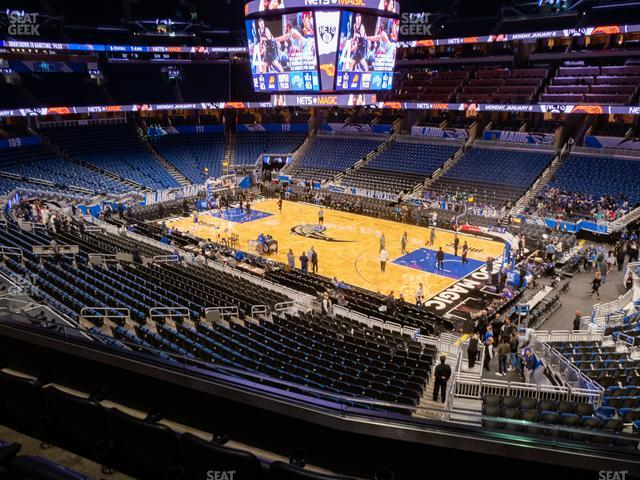 Amway Center Section Club A view