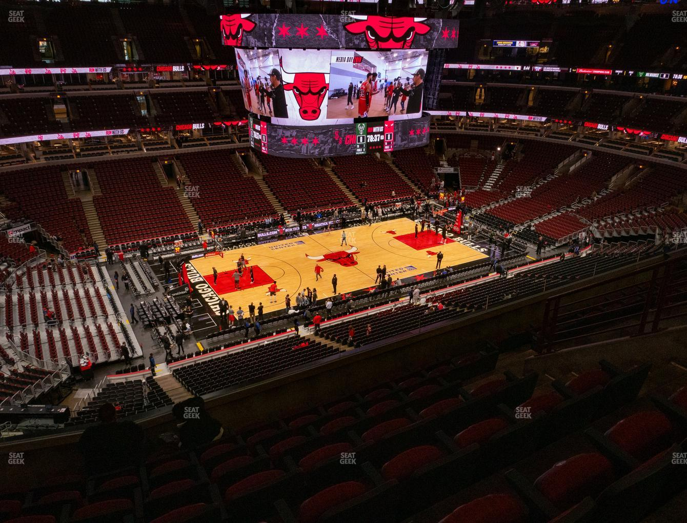 Chicago Bulls at United Center Section 320 View
