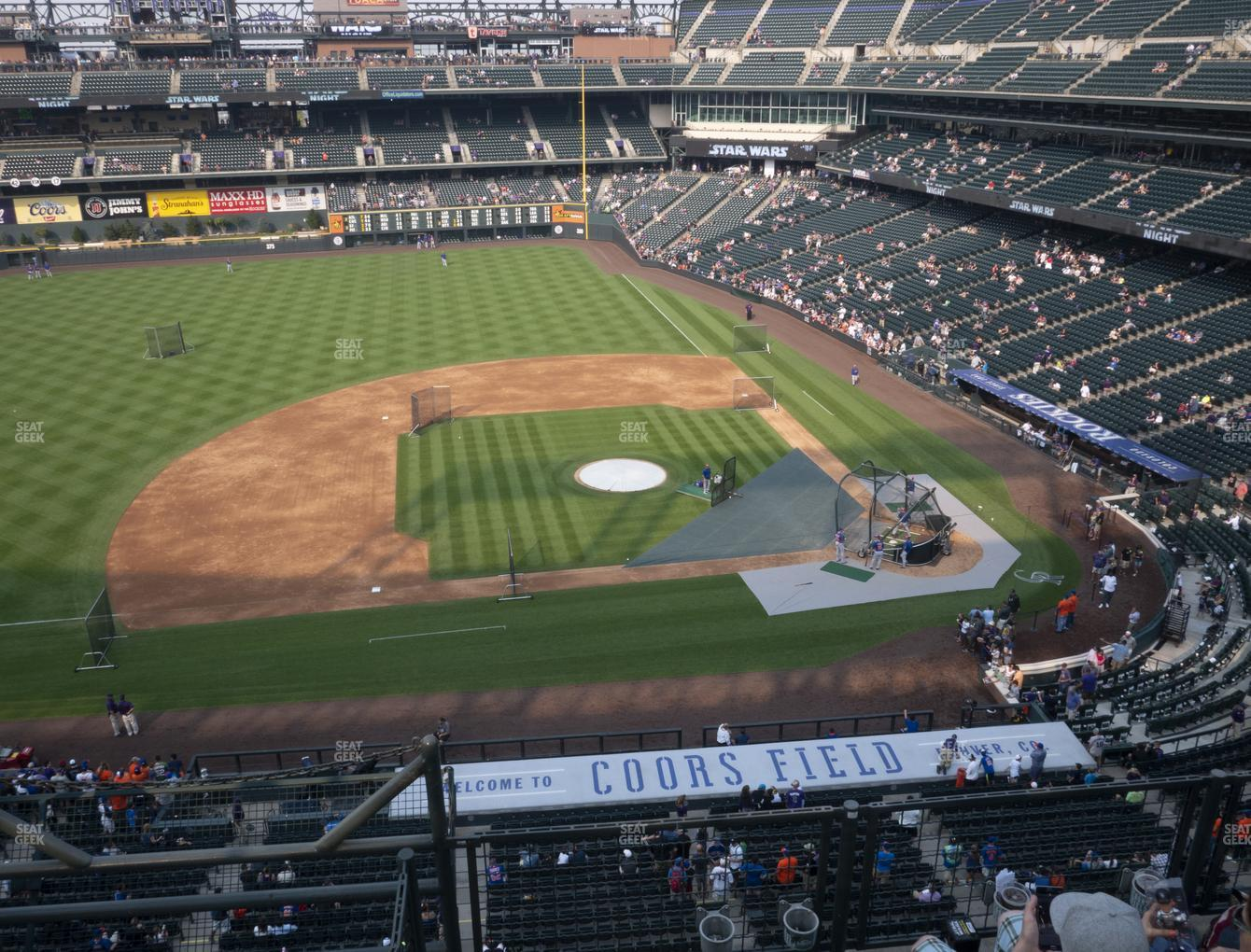 Colorado Rockies at Coors Field Lower 338 View
